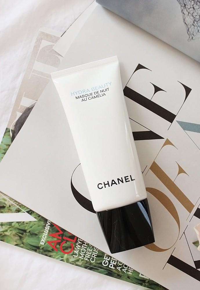 Chanel Hydra Beauty Micro Crème, Hydra Beauty Mask, Masque de Nuit au Camélia, and Micro Liquid Essence