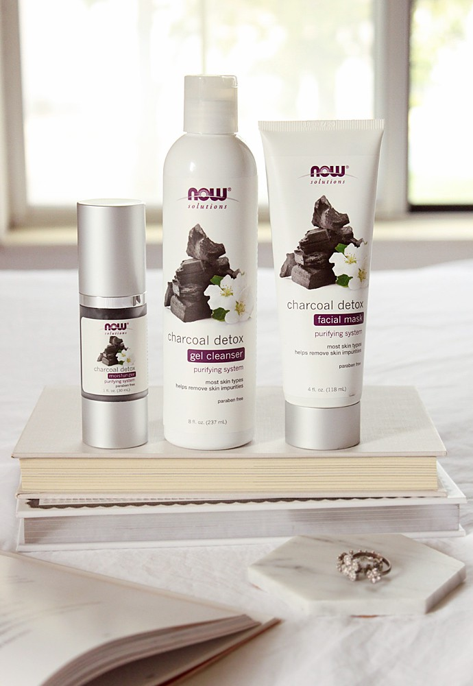 NEW Charcoal Detox Skincare Collection from NOW Foods