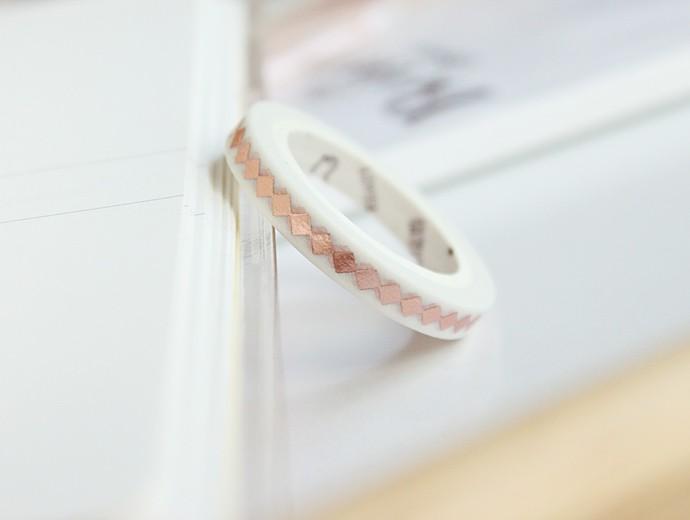 Wonbon Printed Masking Tape Rhombus 0.5cm