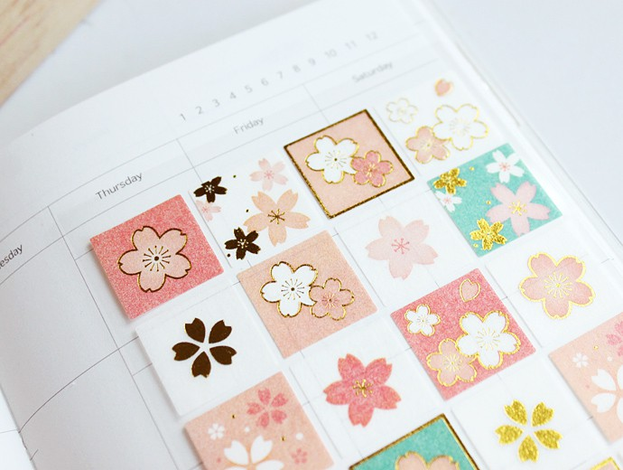 Eranso Blossom Print Stickers Type A
