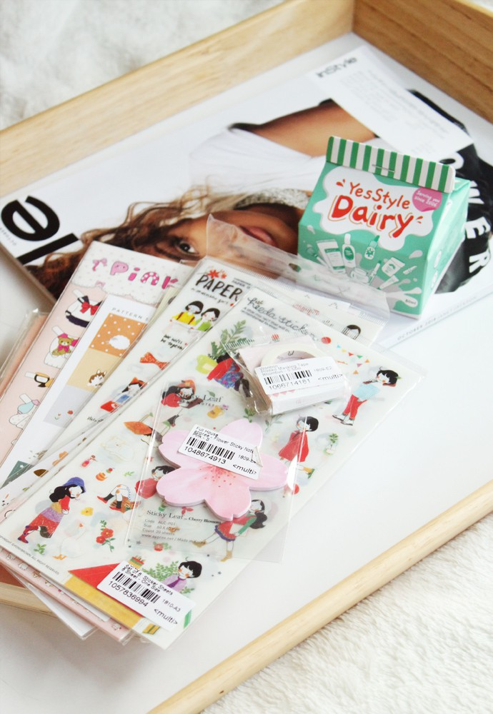 My YesStyle Planner & Stationery Haul with cute Korean and Japanese stickers