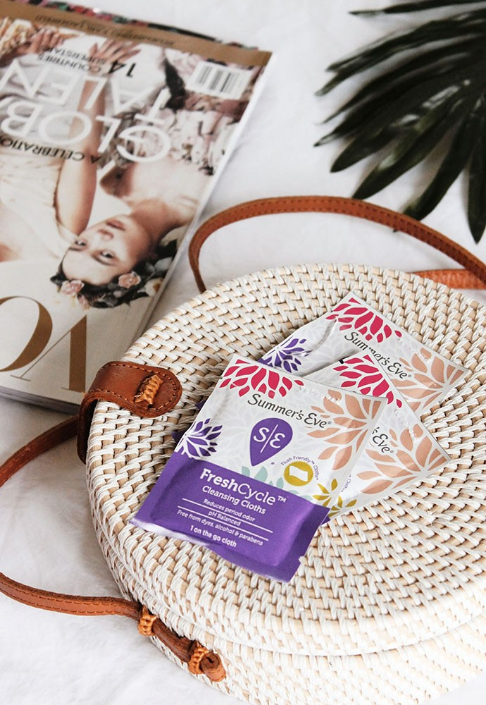 #ad Real Talk About Period Odor & Thoughts on Summer's Eve FreshCycle Products | @summerseve #SEFreshAF #FreshCycle