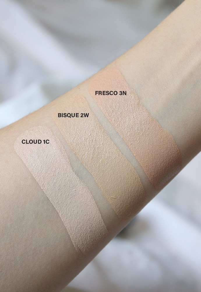 Glo Skin Beauty HD Mineral Foundation Stick Review & Swatches Cloud 1C, Bisque 2W, and Fresco 3N