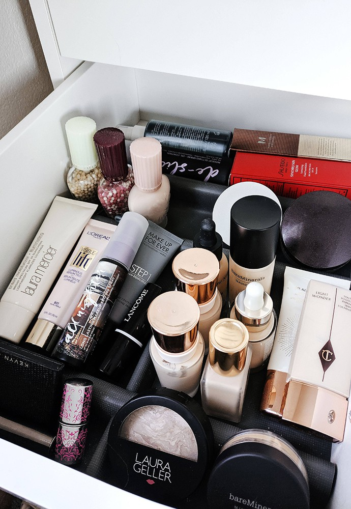 Foundation Makeup Declutter 2020 Project Pan