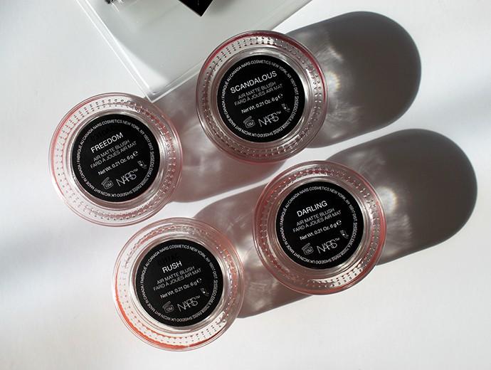 NARS CosmeticsAir Matte Blush & lip Color Review + Swatches