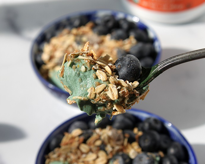 Delicious Spirulina Breakfast Bowl Recipe + NOW Foods Coupon Code